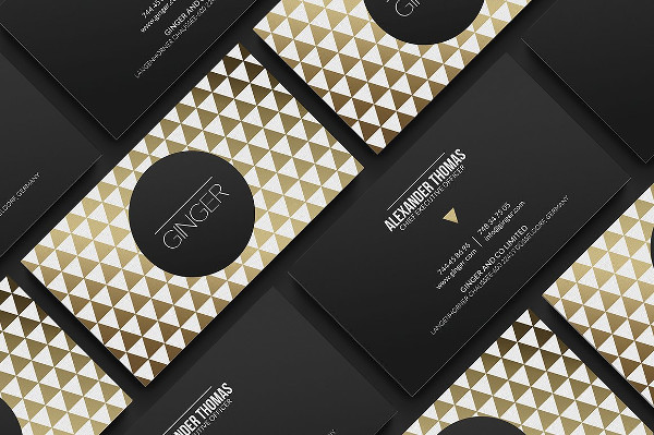 Classy Gold Business Card Template