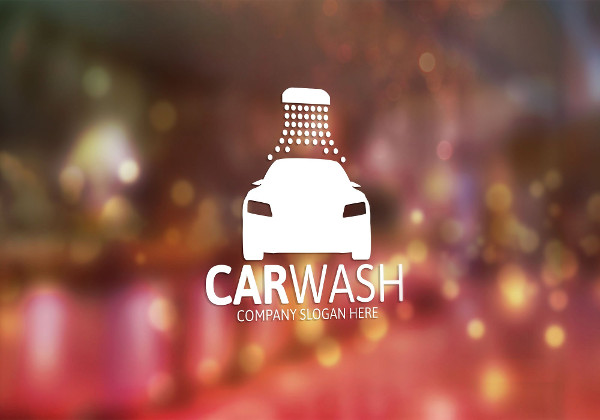Clean Car Washing Logo Template