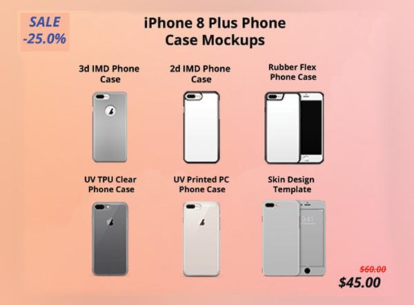 iPhone 8 Plus Phone Case Mockups