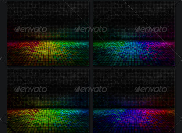 Colorful Pixel Backgrounds