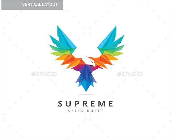 Colorful Supreme Eagle Logo