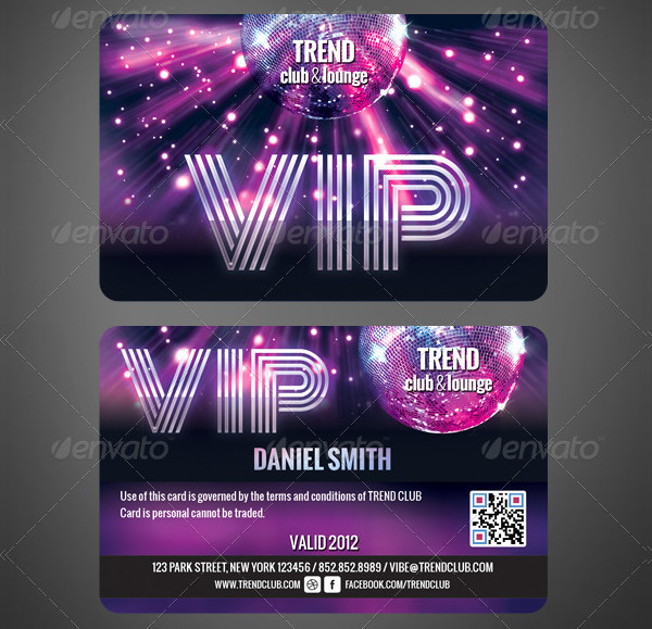 Colorful VIP Membership Cards