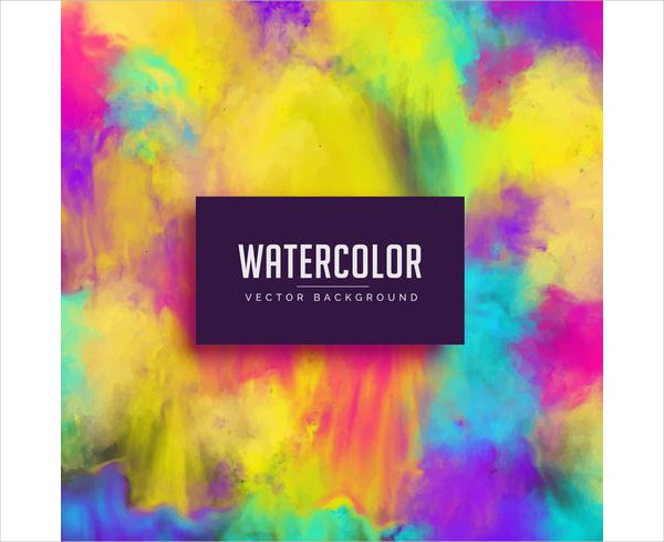 Colorful Watercolor Stain Abstract Background Free