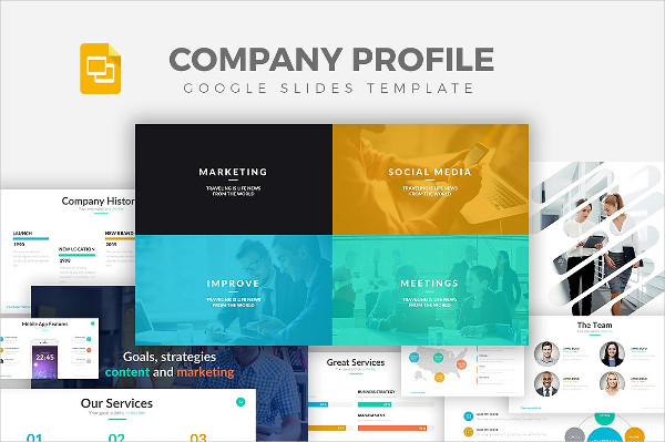 Company Profile Google Slide Template
