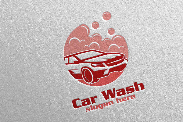 Cool Car Wash Logo Template
