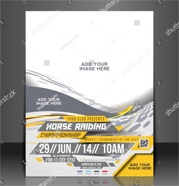 Cool Horse Riding Flyer & Poster Template
