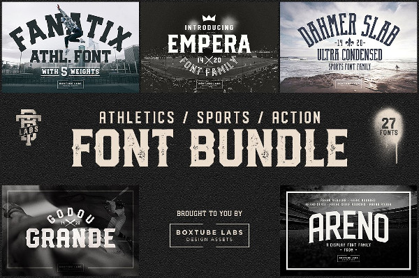 Cool Sports Fonts Bundle