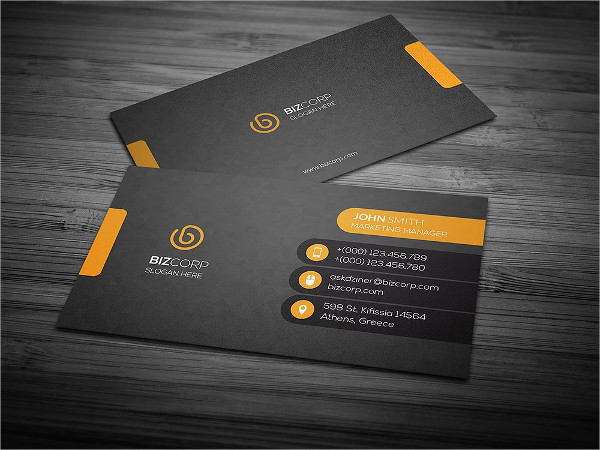 Marketing Manager Business Card Template