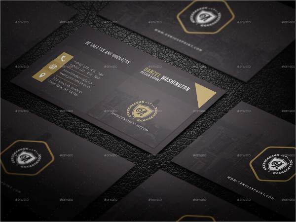 Corporate Black Business Card Template