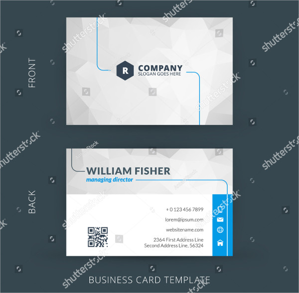 Corporate Flat Business Card Template