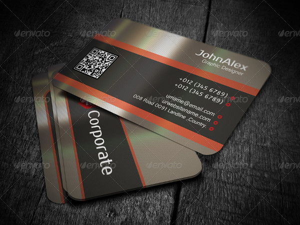 Corporate Metal Business Card Template