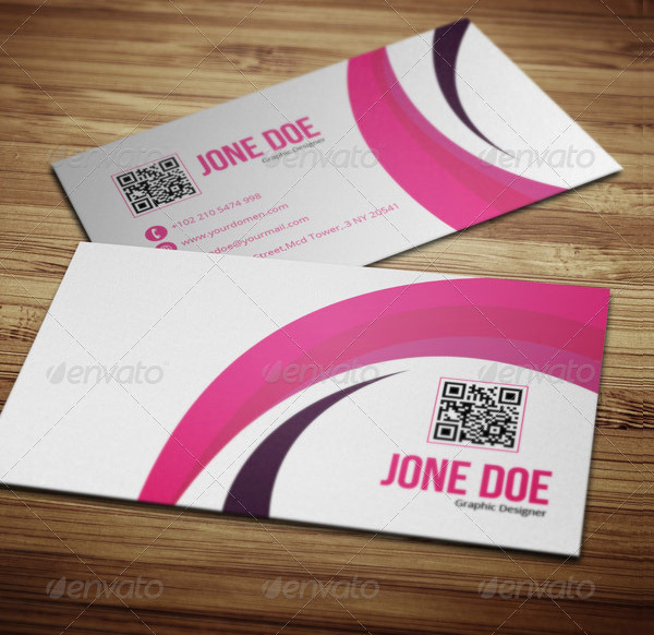 Creative Pink Business Card Template