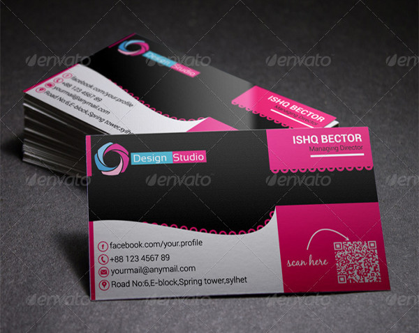Creative Pink Business Card