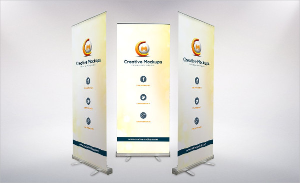 Creative Roll Up Banner Mock-Ups