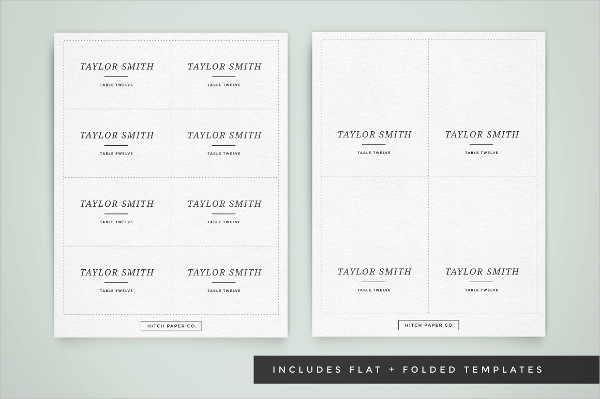 Custom Wedding Table Place Card Template