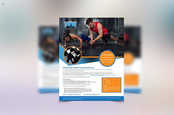 Customizable Fitness Training Flyer