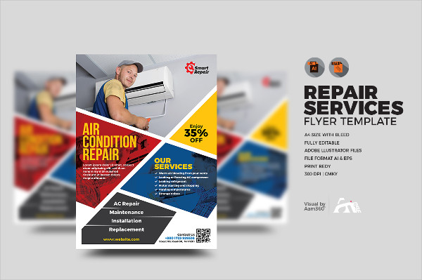 Customizable Repair Service Flyer Template