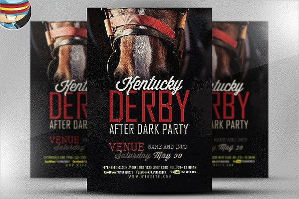 Dark Horse Flyer Template
