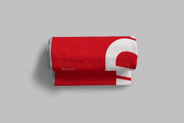 Personalized Towel 2 Sizes Mockup Design