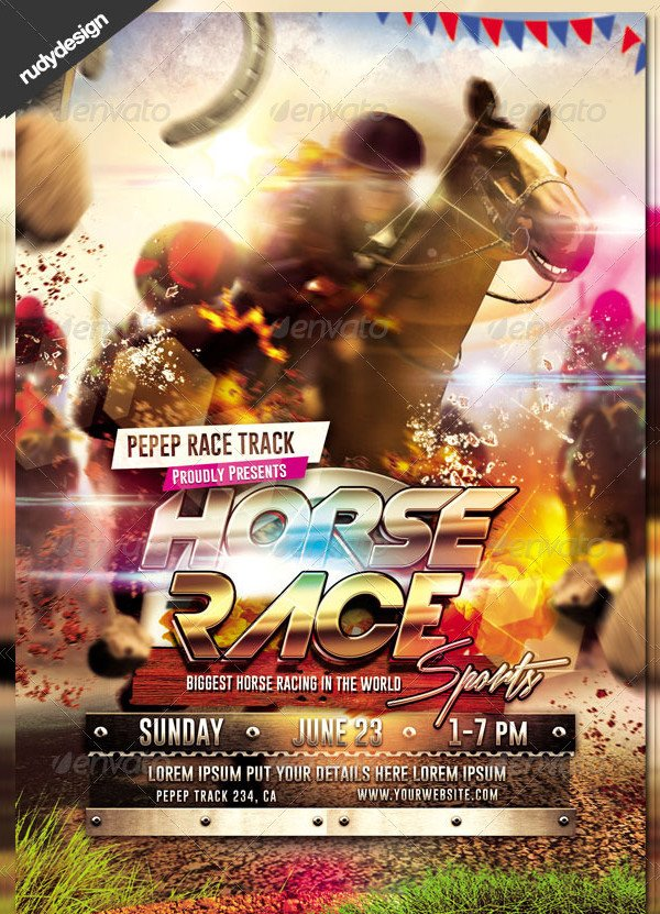 Dramatic Horse Racing Sports Flyer