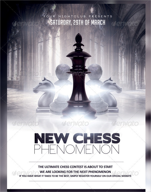 Editable Chess Contest Flyer