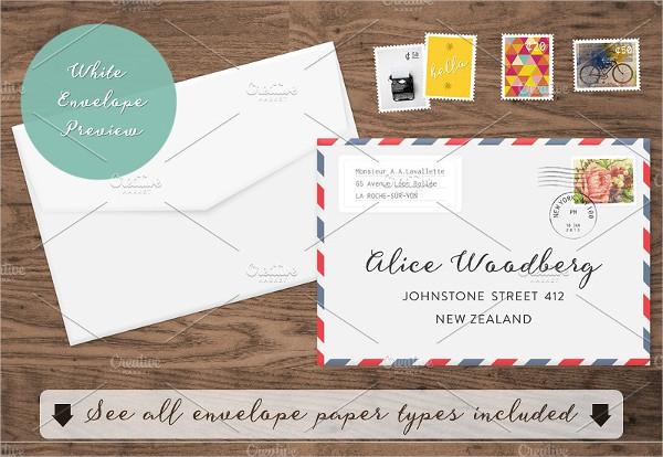 Fully Editable Envelope Mockup Template