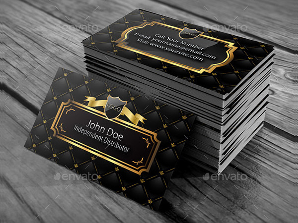 Elegant Gold Business Card Design