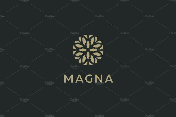 Elegant Tree Leaf Flower Logo