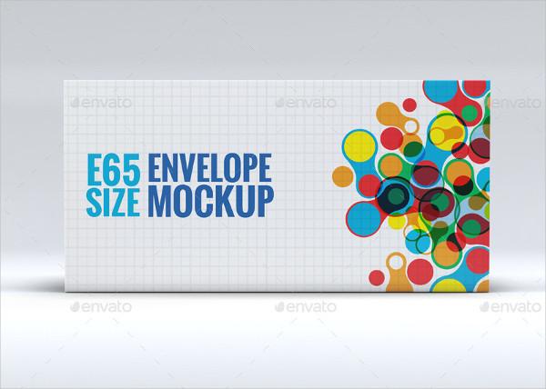 Branding Envelope E65 Size Mock-Up