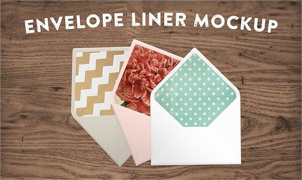 Awesome Envelope Liner Mockup