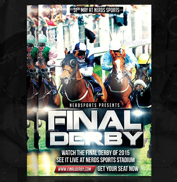 Final Derby Horse Racing Championships Flyer