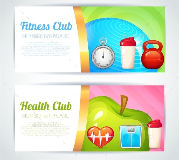 Fitness Health Club Card Design