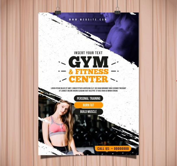 Fitness Training Center Flyer Free Download