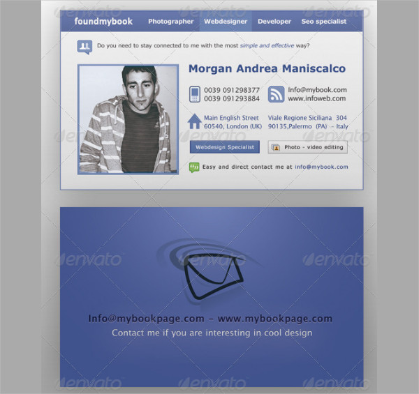 Simple Personal Business Cards Design