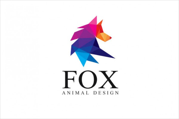 Unique Fox Design Logo