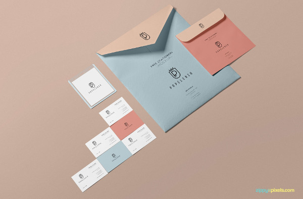Free Beautiful Envelope Mockup PSD