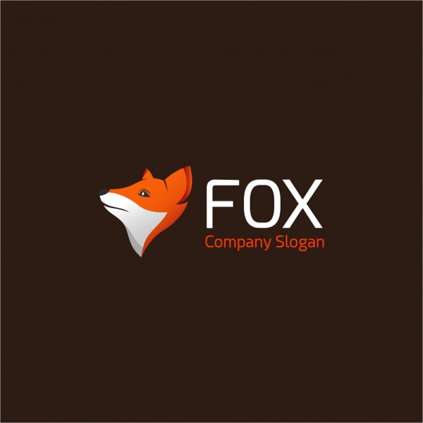 Free Download Fox Logo On Brown Background