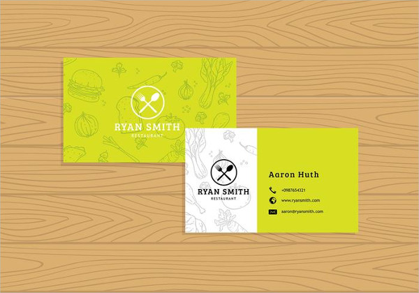 Free Download Name Card Restaurant Template