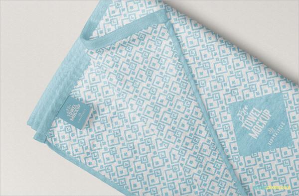 Free Elegant Full Towel Mockup Design