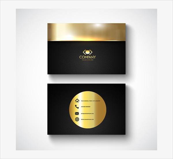 Free Metallic Design Business Card