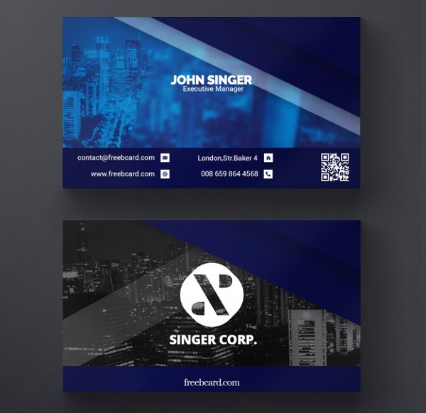 Free PSD Corporate Business Cards