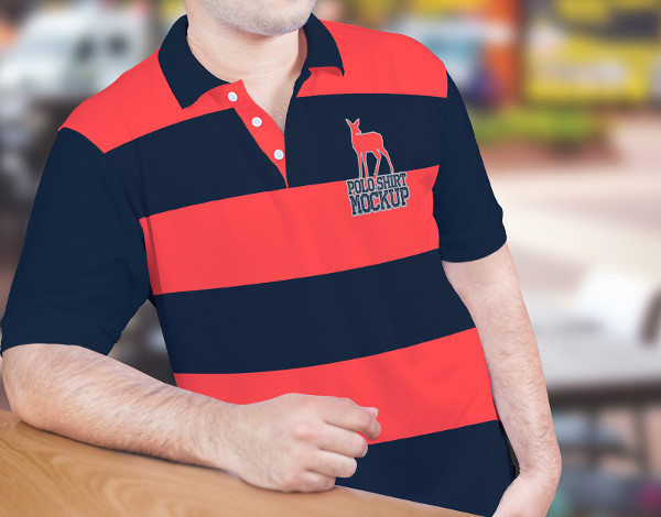 Free PSDPolo Shirt Mockup