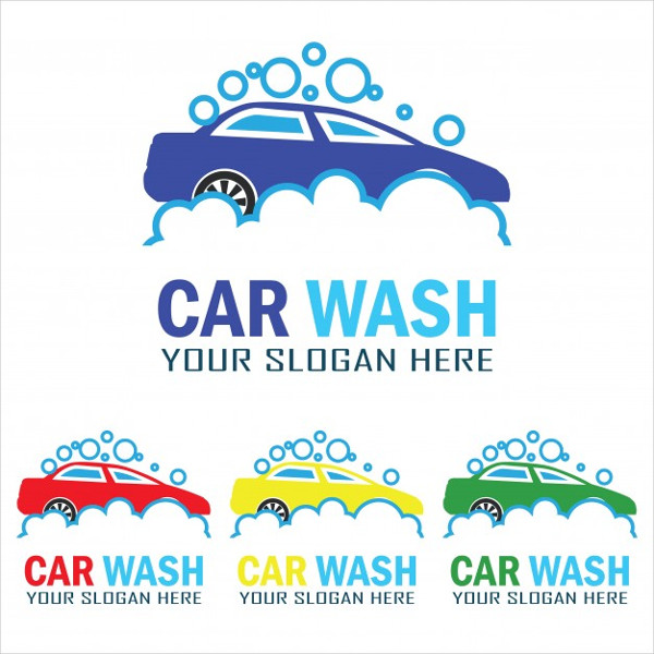 Free Set of Car Wash Service Logo