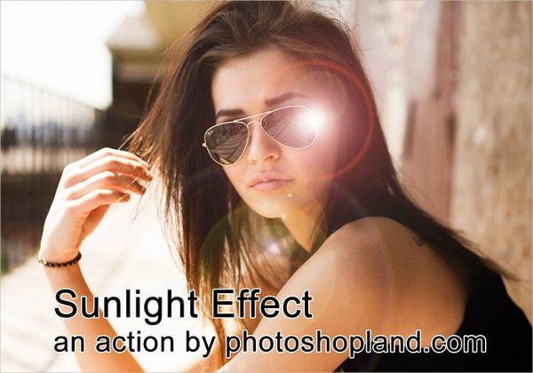 Free Sunlight Effect Photoshop Action