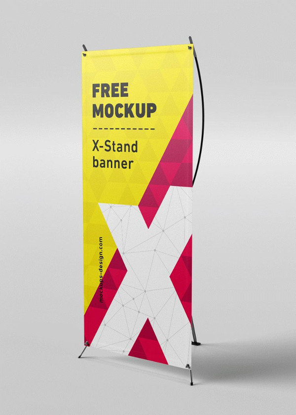 Free X-Stand Banner Mockups Download