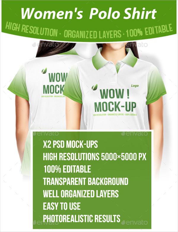 Fully Editable Polo T-Shirt Mockup Design