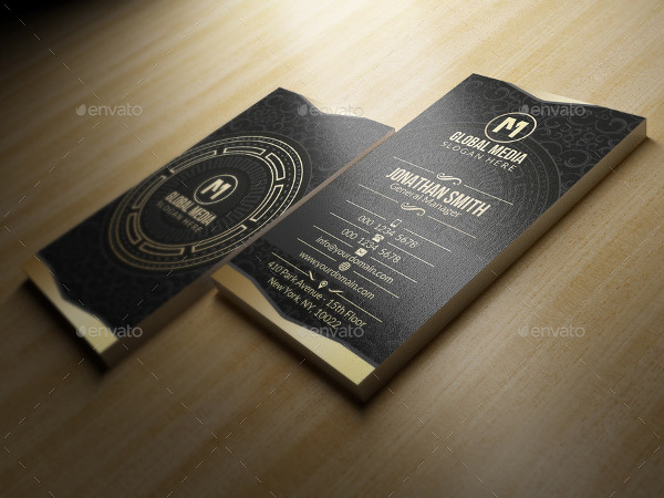 Gold Corporate Business Card Template