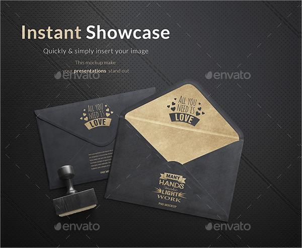 Gold Envelope Mockup Template