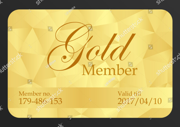 Gold Member Card Template