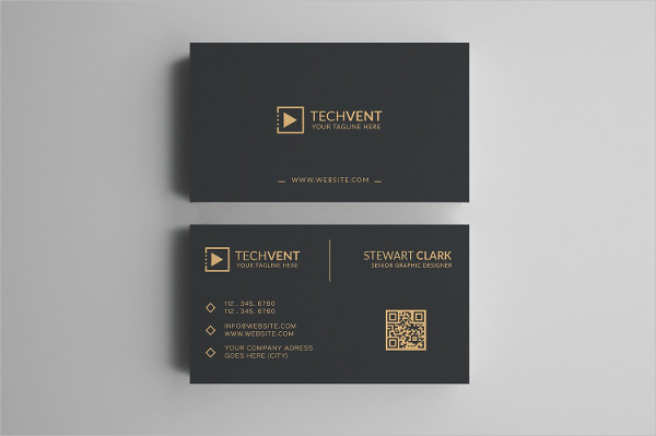 Gold Minimal Business Card for Personal & Company Use